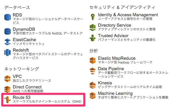 AWS で独自ドメインを設定するために、 DNS(Amazon Route 53) を設定
